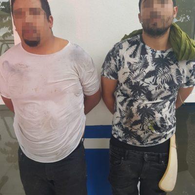 Detienen policías a asaltantes y recuperan botín en Playa del Carmen