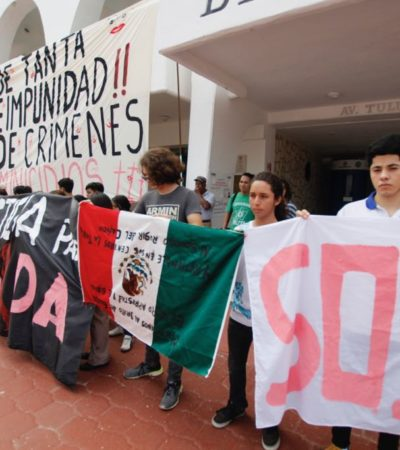 'TOMAN' EL PALACIO MUNICIPAL POR FEMINICIDIOS: Protestan por más de 30 asesinatos de mujeres en Cancún y denuncian extorsión de la Fiscalía