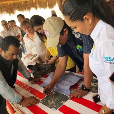 Llega Gobernador en caravana para apoyar a comunidades mayas afectadas por las lluvias