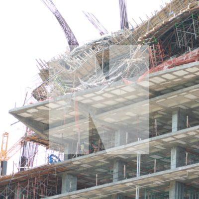 DERRUMBE EN PUERTA DEL MAR: Colapsan dos pisos de hotel en construcción en Puerto Juárez; 6 heridos