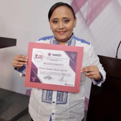 """""""Hoy ganó la democracia, hoy ganaron las propuestas"""", dice Cristina Torres"""