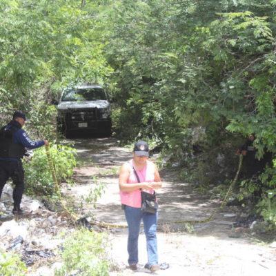 HALLAN CADÁVER DE TAXISTA DE TULUM EN FCP: Cuerpo de chofer desaparecido desde hace 8 días estaba parcialmente calcinado en un brecha por la entrada de la zona arqueológica de Muyil