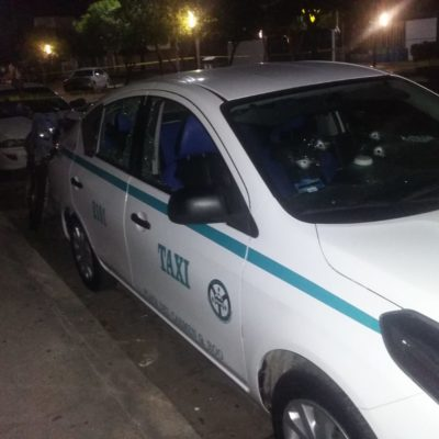 Tirotean un taxi en la colonia Ejidal de Playa del Carmen; no hay heridos