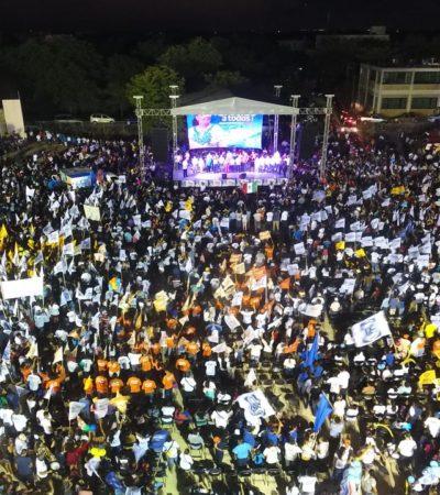 CIERRE DE CAMPAÑA EN PLAYA: Evento con 10 mil personas en apoyo a Cristina Torres para repetir en Solidaridad