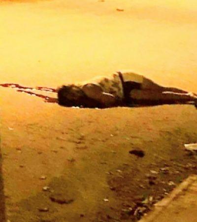 AMANECE CANCÚN CON MUJER EJECUTADA: Con un balazo en el rostro, matan en plena calle a una fémina a la que le encontraron droga en la Región 240 de Cancún