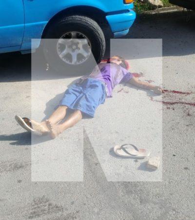 EJECUTAN A BALAZOS A VENDEDOR DE PERIÓDICOS: Cuando circulaba en su triciclo, matan a un joven en la Región 103 de Cancún