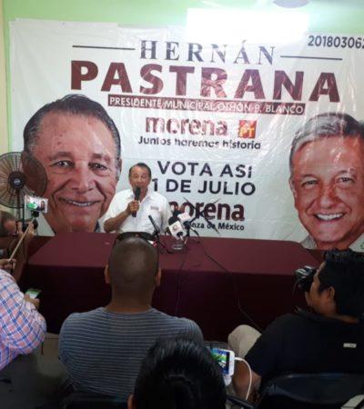 Candidato de Morena cierra campaña en Chetumal