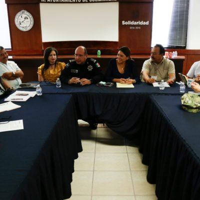 Coordinan autoridades de los tres niveles de gobierno estrategia para jornada electoral segura en Solidaridad