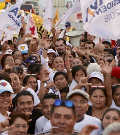 CIERRE DE CAMPAÑA EN PLAYA: Cristina Torres destaca propuestas y resultados en la búsqueda de la reelección en Solidaridad
