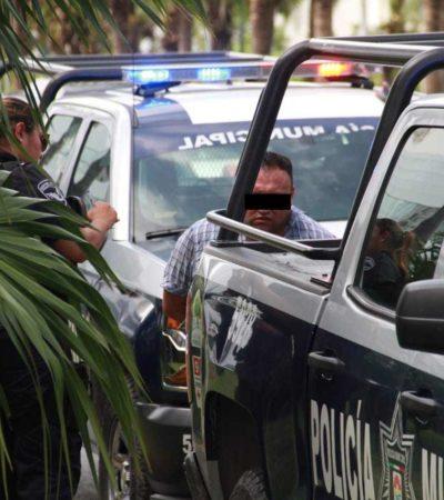 LE PEGAN A LOS 'PONCHA LLANTAS': Sin arma y sin tolete, un policía de Tránsito detiene a un colombiano tras asaltar a una cuentahabiente en Malecón Las Américas de Canún; dos escaparon