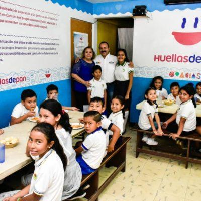 'Huellas de pan', donde se brinda seguridad alimentaria a niños y adultos, recibe apoyo de Julián Ricalde