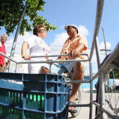 Laura Beristaín se compromete a regularizar terrenos de la colonia Luis Donaldo Colosio en Playa