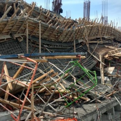 Aún falta por rescatar cuerpo de trabajador en derrumbe de Puertas del Mar, denuncian