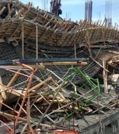 Obra colapsada en Puerta del Mar sigue clausurada hasta valoración de Protección Civil
