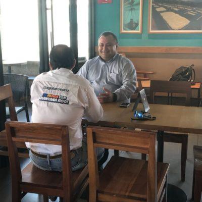¿CANDIDATO EN CIERNES DEL 'FRENTE' EN CANCÚN?: Jorge Aguilar se reúne con Eloy Peniche
