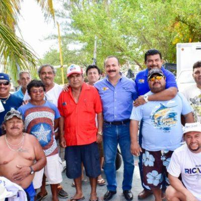 Los pescadores respaldan a Julián Ricalde en Isla Mujeres