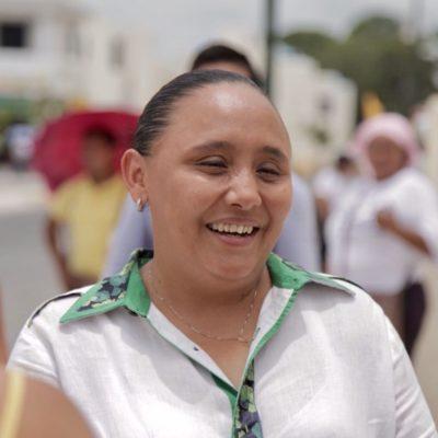 Más policías, una guardería 24 horas y un polideportivo, propone Cristina Torres a habitantes de Villas del Sol en segunda administración