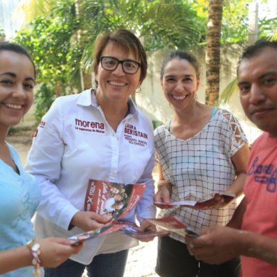 Asegura Laura Beristaín contar con el respaldo de los jóvenes que votarán por AMLO