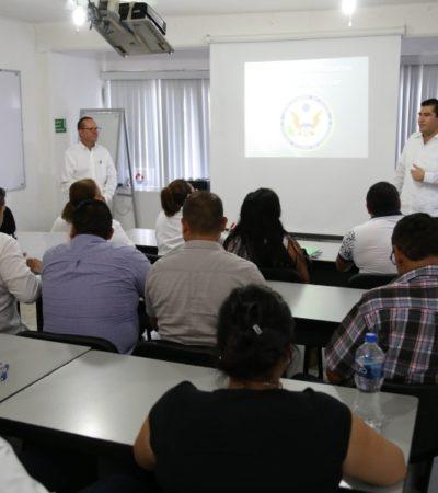 Representante del Consulado de EU en Mérida capacita a personal de juzgados cívicos en Cancún