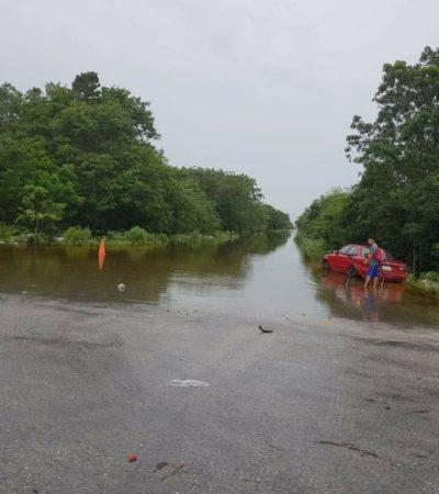 Autoridades federales y locales apoyan a poblaciones afectadas por lluvias