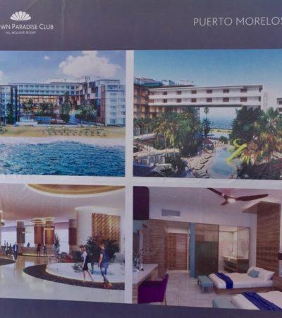 Colocan la primera piedra de nuevo hotel en Puerto Morelos