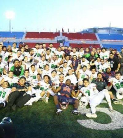 El cancunense Andrés García sobresale en triunfo mexicano en III Campeonato Mundial Universitario de Football Americano