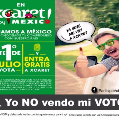 CAFÉS, XCARET, BUCEOS, ¡GRATIS!: 'Participo, Voto y Exijo' premiará a electores del domingo primero de julio