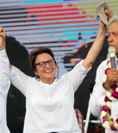 Dice Laura Beristaín que no tiene dudas del triunfo de Morena el próximo domingo