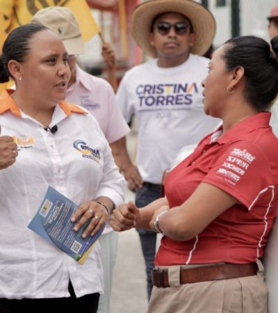 Mejores vialidades y más obra pública, garantiza Cristina Torres para su reelección