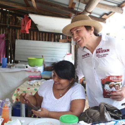Laura Beristaín asegura que apoyará a todas las jefas de familia emprendedoras