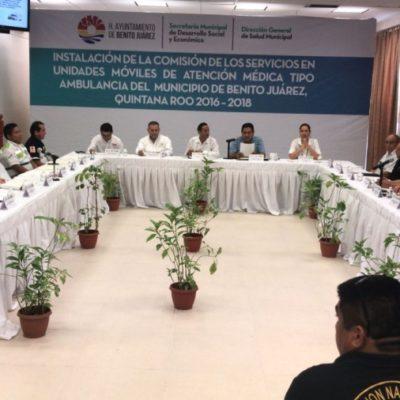 Comisión del Ayuntamiento de Benito Juárez regulará la atención que brindan las ambulancias