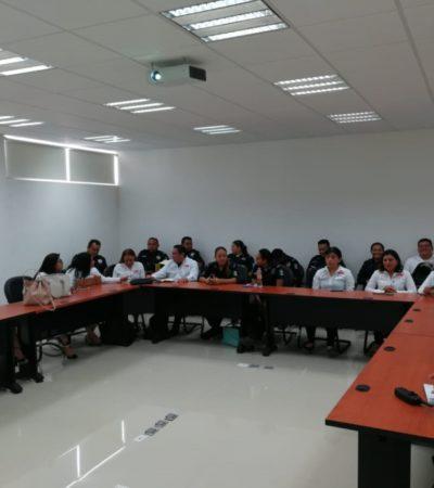 Policías reciben lecciones de 'blindaje electoral'