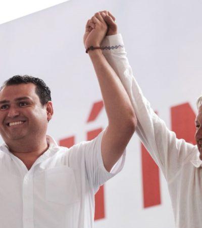 Edgar Gasca recibe el apoyo total de AMLO para ganar en Isla Mujeres