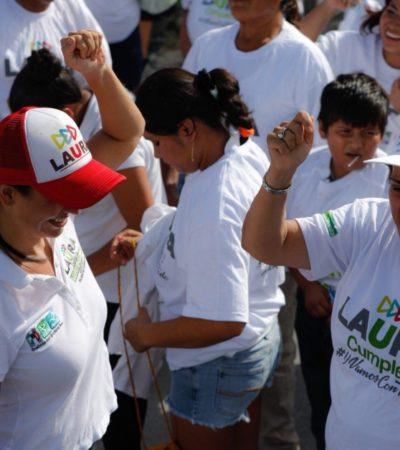 Morenistas se unen a campaña de Laura Fernández