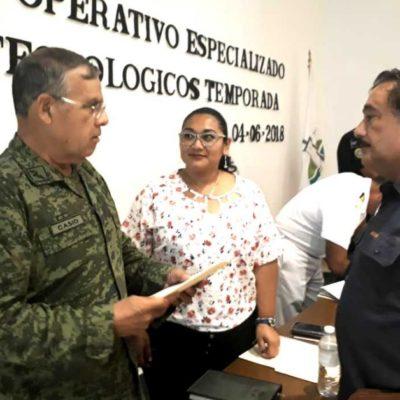 Instalan el Comité Operativo Especializado en Fenómenos Hidrometeorológicos 2018 en Puerto Morelos