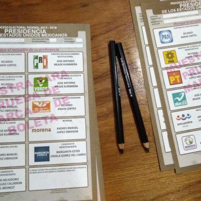 ANTE LA DUDA: INE y Ieqroo prueban tinta y marcadores en 'boletas muestra' para demostrar que son imposibles de eliminar