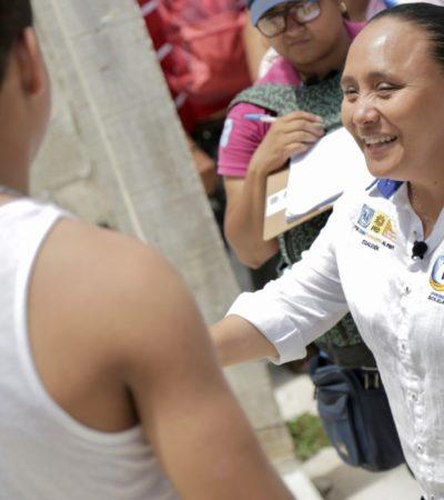 Los trámites fiscales, propone Cristina Torres, se digitalizarán en Solidaridad para brindar más transparencia
