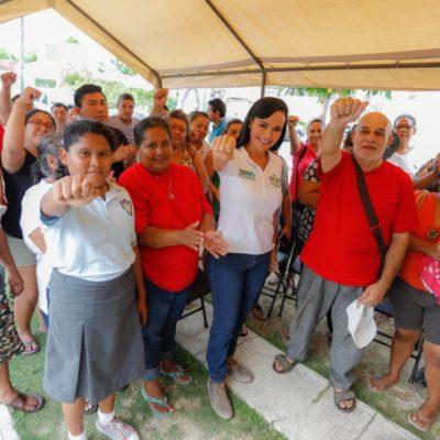 Gobierno incluyente, con experiencia y honesto, promete Laura Fernández si es reelegida en Puerto Morelos