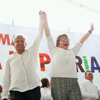 De la mano de AMLO, confía Laura Beristain en 'arrasar' en las urnas en Solidaridad