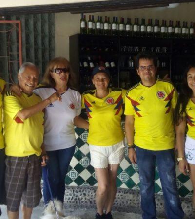 ¡BACANO! Los colombianos en Cancún celebran pase a octavos en Rusia 2018