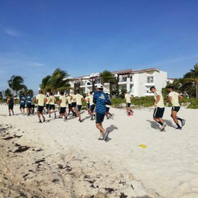 América prosigue entrenamiento en Riviera Maya