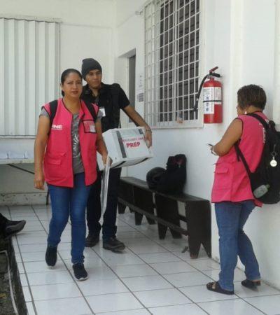 475 paquetes electorales se reparten en el Distrito Electoral Federal 03 en Cancún