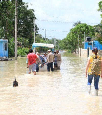Mil 917 personas han recibido atención médica en las comunidades afectadas en Quintana Roo por las pasadas lluvias