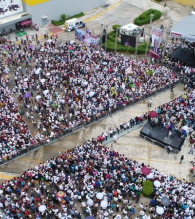 Rompeolas: Superan mítinesde AMLO en Campeche y Mérida, al de Cancún