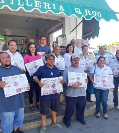 ¡HASTA EN LAS TORTILLAS!: El Ieqroo entrega 100 mil envoltorios para promover el voto entre los ciudadanos