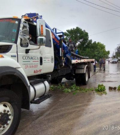 30 MILLONES DE LITROS DRENADOS: Conagua despliega equipo especializado para apoyar zonas afectadas por fuertes lluvias