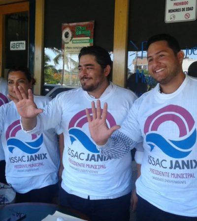 Trabajadores de la industria de la construcción apoyan a Issac Janix
