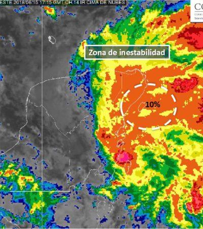 Emite Conagua aviso de ciclón tropical frente a costas de Cozumel con 10% de evolucionar a depresión o tormenta tropical