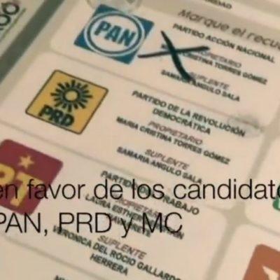 """Desmiente Ieqroo en Solidaridad que existan boletas marcadas a favor de la coalición """"Por Quintana Roo al Frente"""""""
