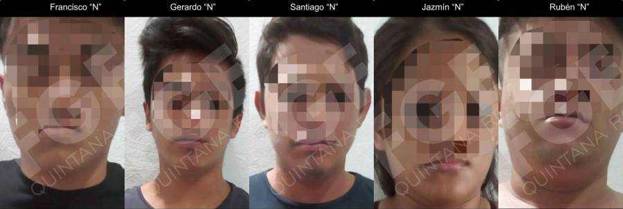 Vinculan a proceso a 4 hombres y una mujer por extorsión a comerciantes en la Quinta Avenida de Playa del Carmen